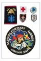 Ecusson Medecins, Secouristes, Pompiers