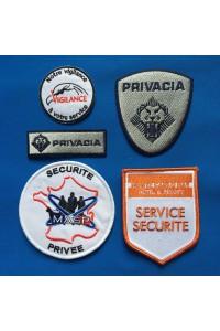 Ecussons brodés Sécurité Privé / Gardiennage