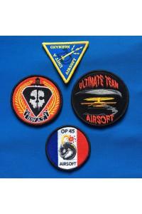 Écusson brodé personnalisé logo Airsoft et Paintball