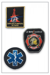 Ecussons et insignes brodés Sapeur Pompier et Ambulance